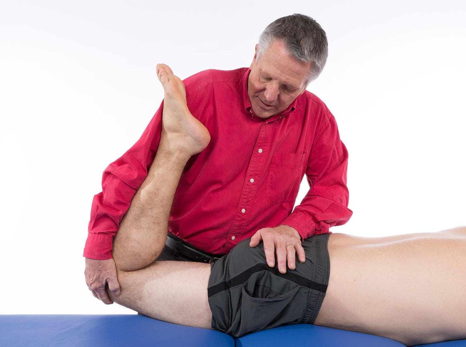 Photo of physical therapist doing a treatment